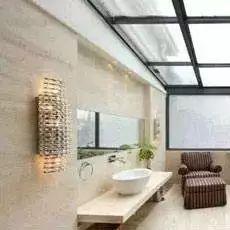 阳台也可以装浴缸,憧憬太阳浴,有情调。